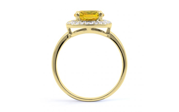 Citrine Cushion Yellow Gold Ring product image 3
