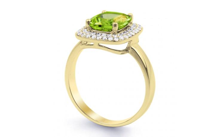 Peridot Cushion Yellow Gold Ring product image 2