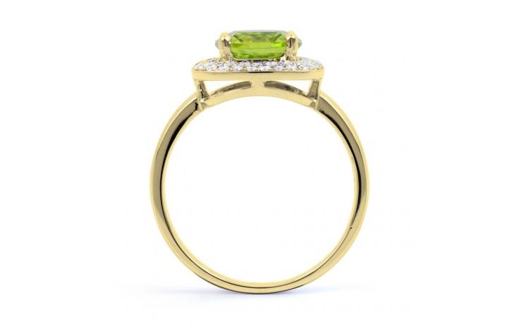 Peridot Cushion Yellow Gold Ring product image 3
