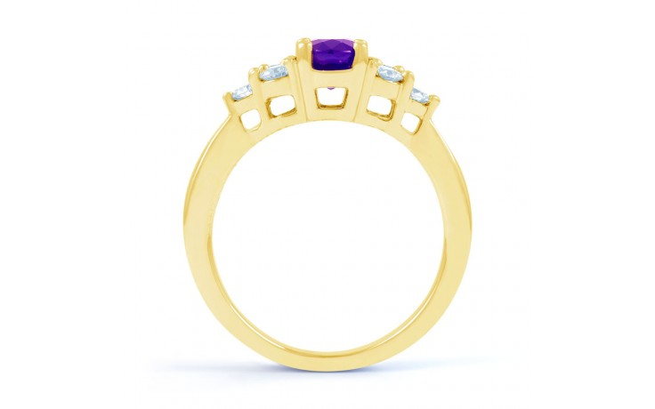 Amethyst Gold Engagement Ring product image 3