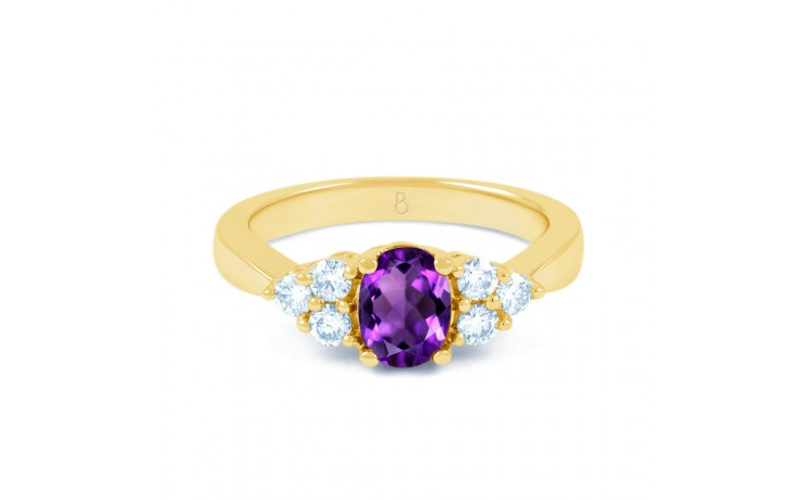Amethyst Gold Engagement Ring product image 1