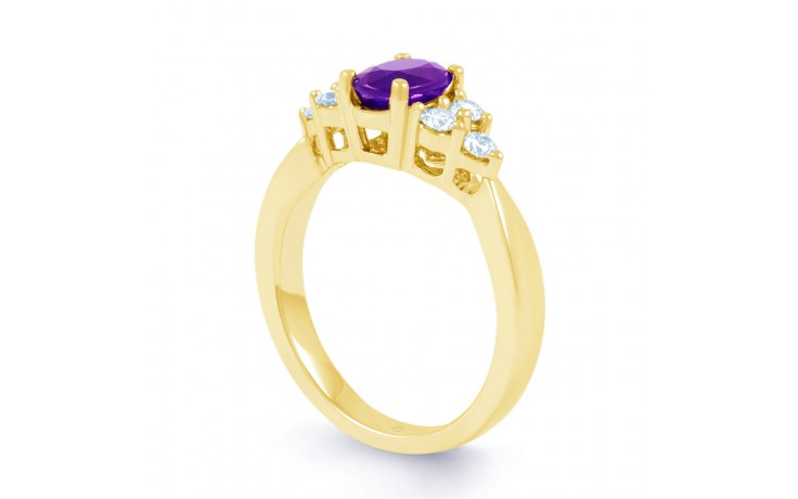 Amethyst Gold Engagement Ring product image 2