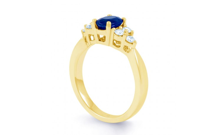 Vintage Blue Sapphire Gold Ring product image 2