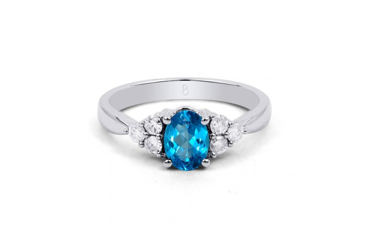 Blue Topaz Engagement Ring product image 1