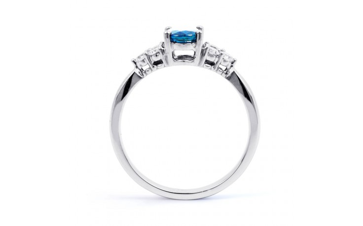 Blue Topaz Engagement Ring product image 3