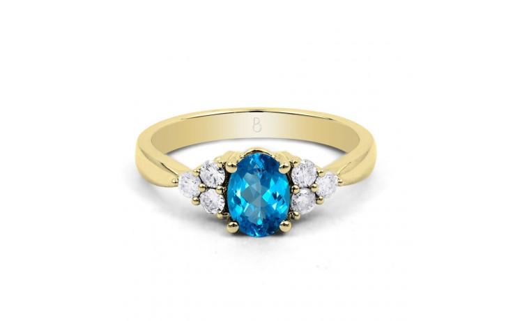 Blue Topaz Gold Engagement Ring product image 1