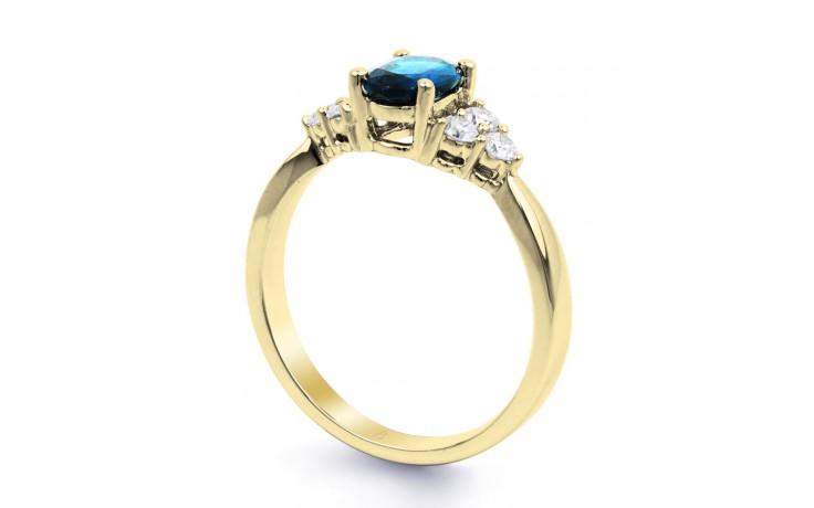Blue Topaz Gold Engagement Ring product image 2