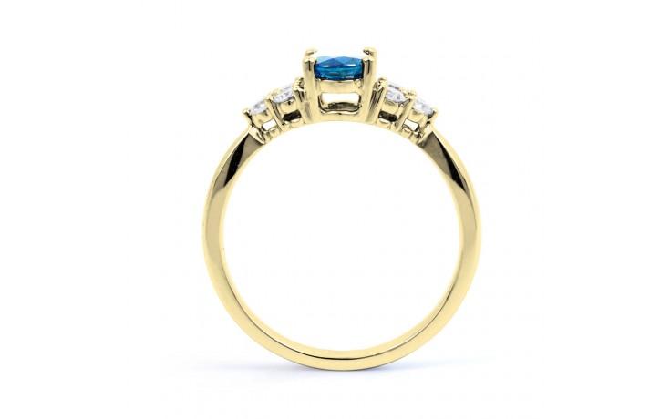Blue Topaz Gold Engagement Ring product image 3