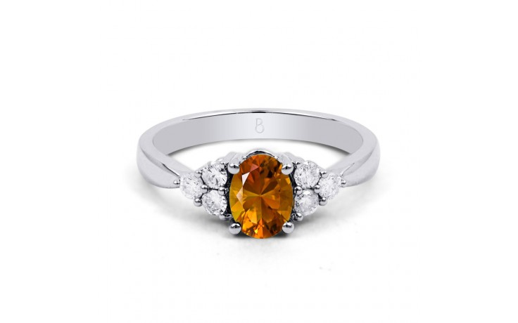 Citrine & Diamond Vintage Ring product image 1