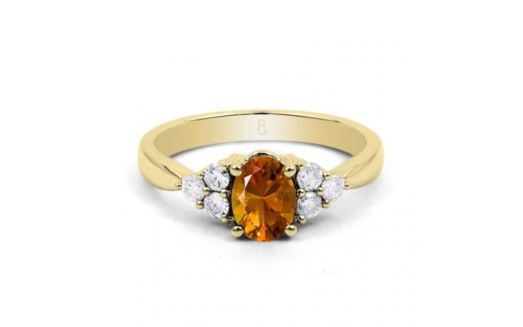 Citrine & Diamond Vintage Gold Ring product image 1