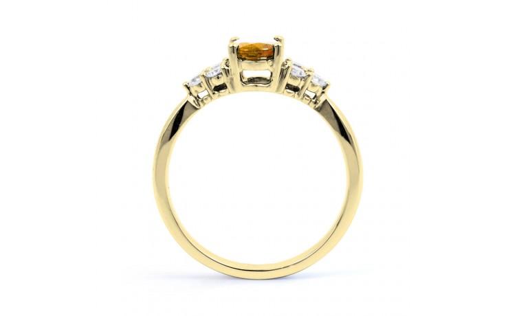 Citrine & Diamond Vintage Gold Ring product image 3