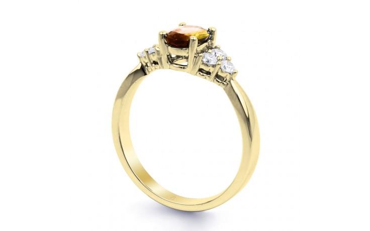 Citrine & Diamond Vintage Gold Ring product image 2