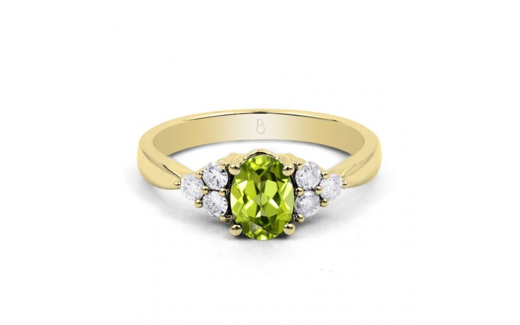 Peridot & Diamond Vintage Gold Ring product image 1