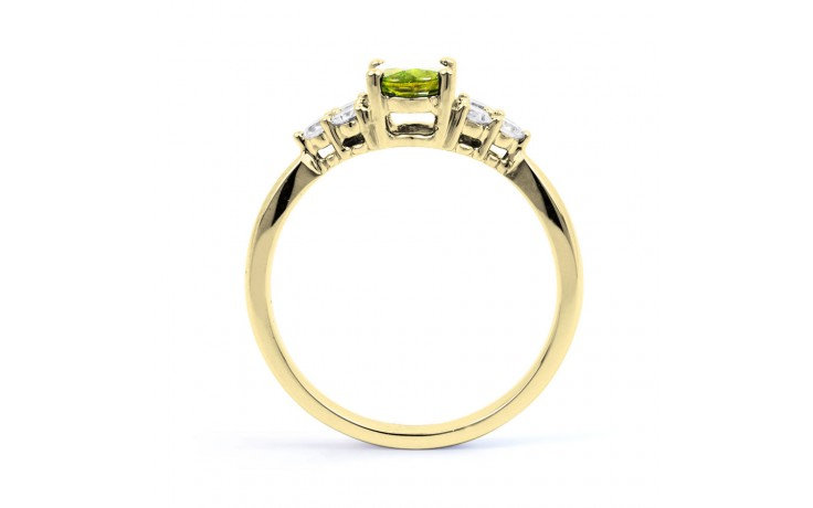 Peridot & Diamond Vintage Gold Ring product image 3