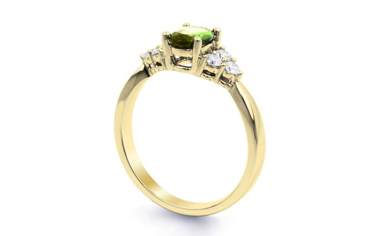 Peridot & Diamond Vintage Gold Ring product image 2