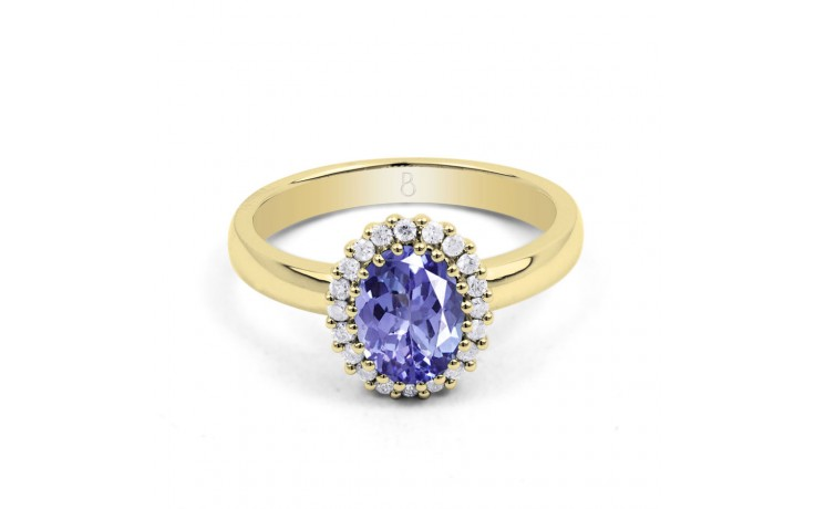 Tanzanite Gold Engagement Ring product image 1