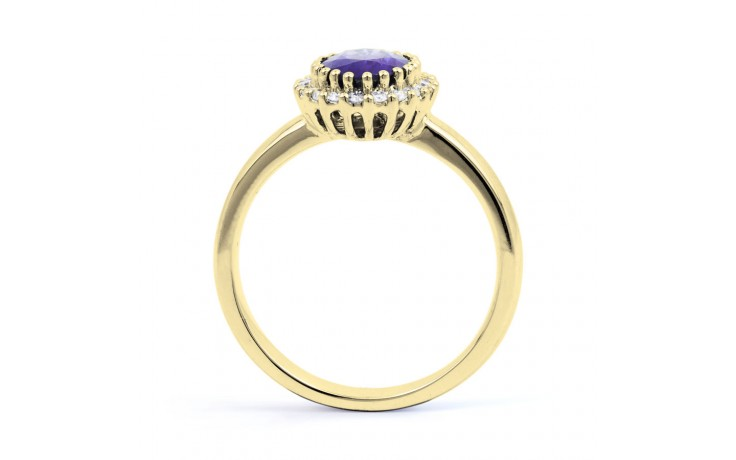 Tanzanite Gold Engagement Ring product image 3