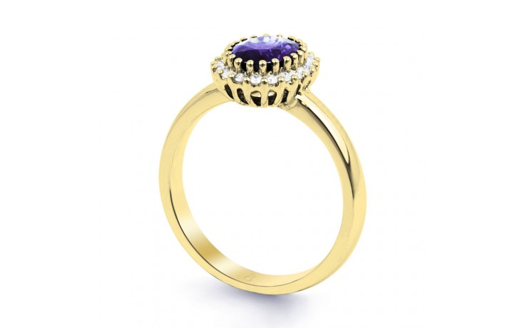 Tanzanite Gold Engagement Ring product image 2