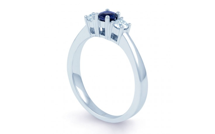 Amor Blue Sapphire 3 Stone Ring product image 2
