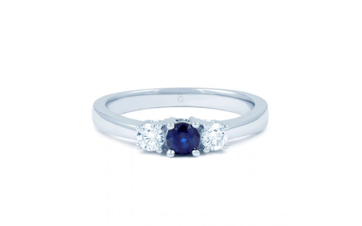 Amor Blue Sapphire 3 Stone Ring product image 1