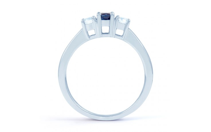 Amor Blue Sapphire 3 Stone Ring product image 3