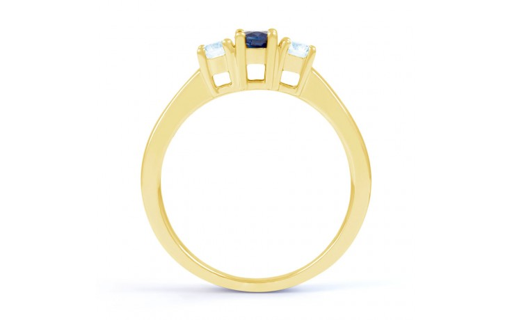 Amor Blue Sapphire 3 Stone Gold Ring product image 3