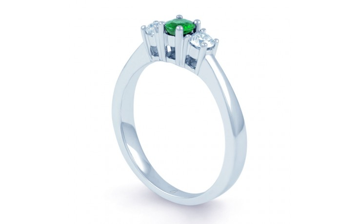 Amor Emerald 3 Stone Ring  product image 2