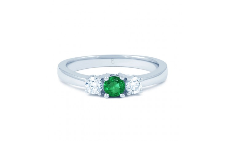 Amor Emerald 3 Stone Ring  product image 1