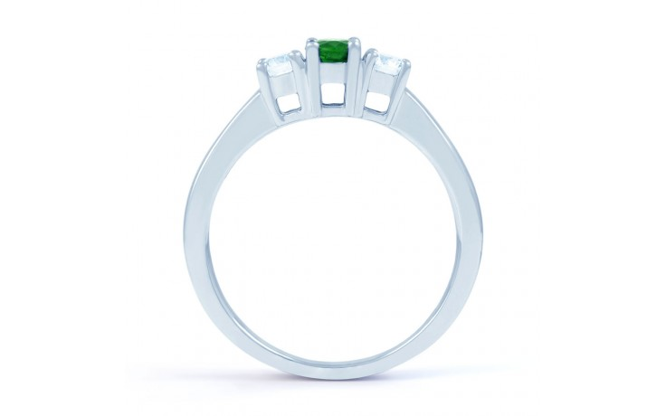 Amor Emerald 3 Stone Ring  product image 3