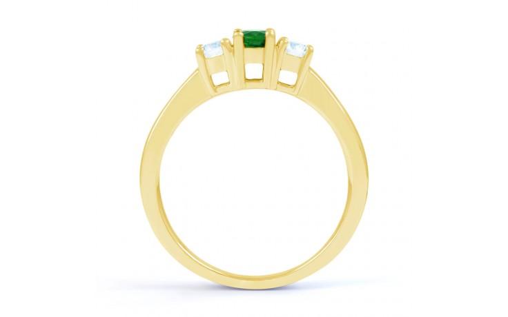 Amor Emerald 3 Stone Gold Ring product image 3
