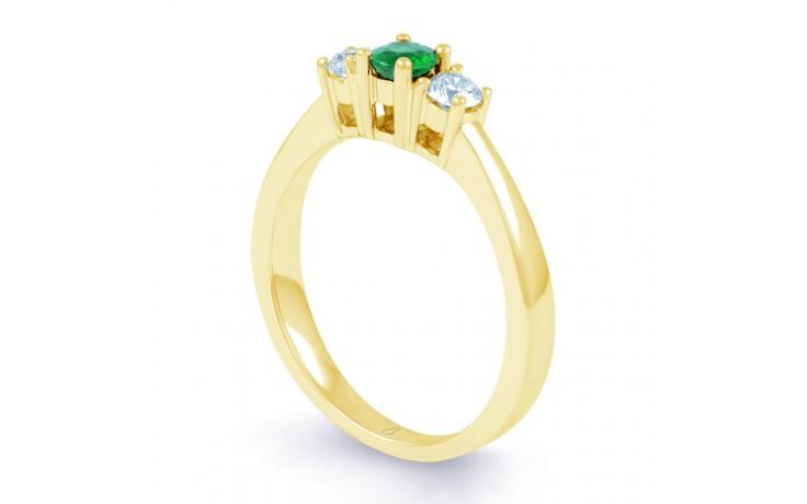 Amor Emerald 3 Stone Gold Ring product image 2