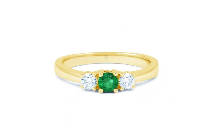 Amor Emerald 3 Stone Gold Ring product image 1