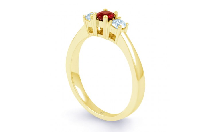 Amor Ruby Trilogy Gold Ring product image 2