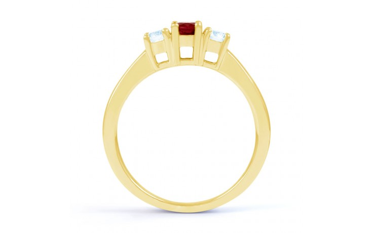 Amor Ruby Trilogy Gold Ring product image 3