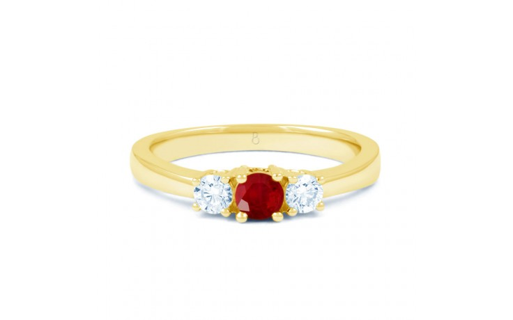 Amor Ruby Trilogy Gold Ring product image 1