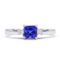 Anya 18ct White Gold Tanzanite and Diamond Gemstone Ring image 0