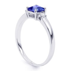 Anya 18ct White Gold Tanzanite and Diamond Gemstone Ring image 1