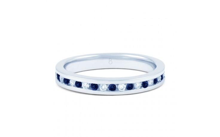 White Gold Blue Sapphire & Diamond Eternity Ring product image 1