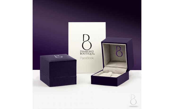 White Gold Blue Sapphire & Diamond Eternity Ring product image 3