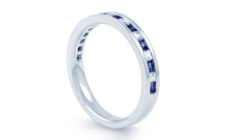18ct White Gold Princess Blue Sapphire & Diamond Eternity Ring product image 2