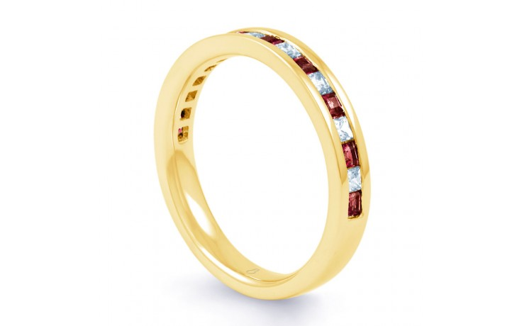 Ruby & Diamond Princess Cut Eternity Ring  product image 2
