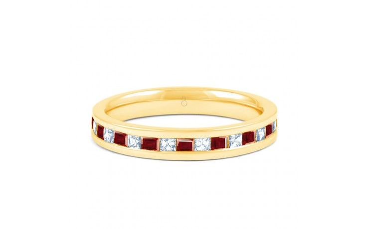 Ruby & Diamond Princess Cut Eternity Ring  product image 1