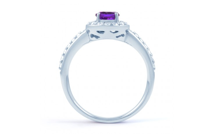 Vintage Amethyst Halo Ring product image 3