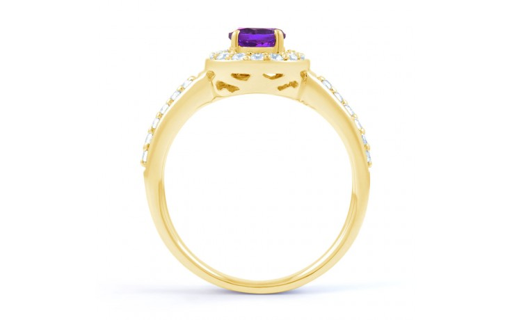 Vintage Amethyst Halo Gold Ring product image 3