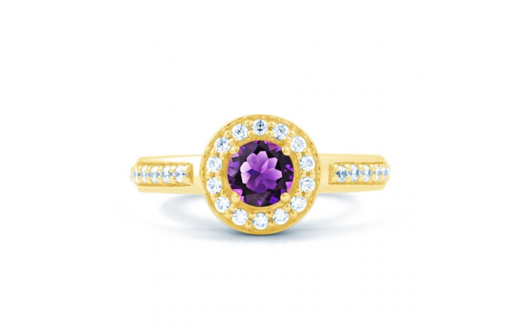 Vintage Amethyst Halo Gold Ring product image 1