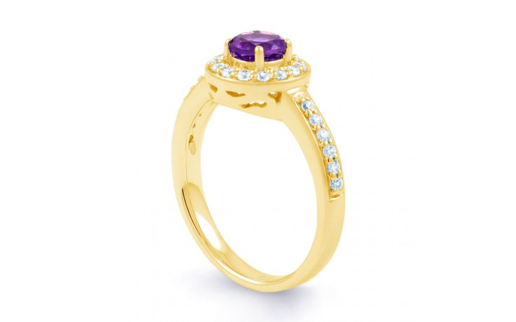 Vintage Amethyst Halo Gold Ring product image 2