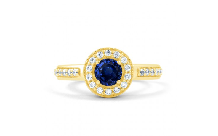 Blue Sapphire Cluster Gold Ring product image 1