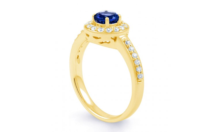 Blue Sapphire Cluster Gold Ring product image 2