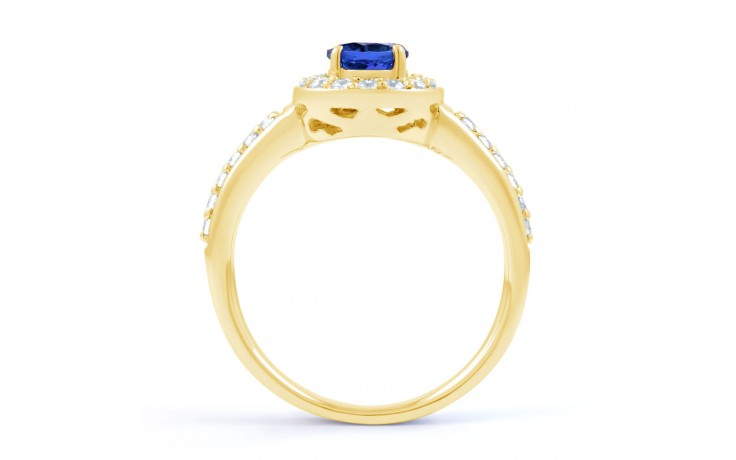 Blue Sapphire Cluster Gold Ring product image 3