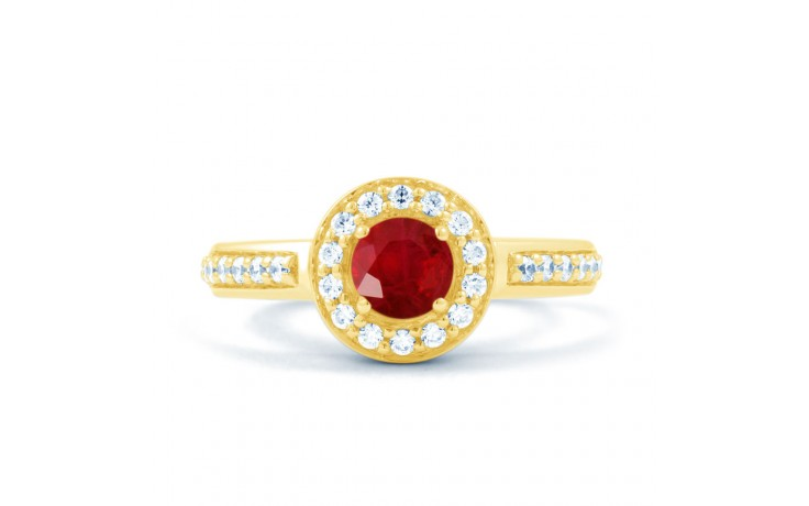 Ruby Cluster Gold Ring product image 1